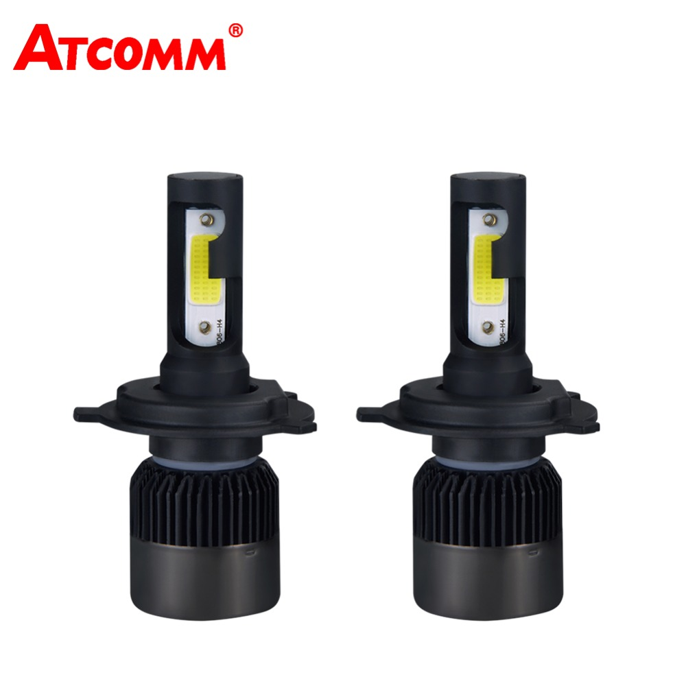 ATcomm H7 H1 LED mini 12V Car Headlights Bulb H4 H11/H8/H9 9005/HB3 9006/HB4 Auto Lamp COB 8000Lm 6500K 72W 24V Super White
