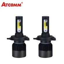 Atcommбыл H7 H1 светодиодный мини 12 В фары автомобиля лампы H4 H11/H8/H9 9005/HB3 9006 /HB4 авто лампы удара 8000Lm 6500 К 72 Вт 24 В супер белый