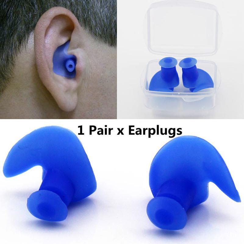 Azul nadar o viajar Tapones para los o/ídos de silicona para dormir; Tapones auditivos suaves y reutilizables para dormir 6 pares.