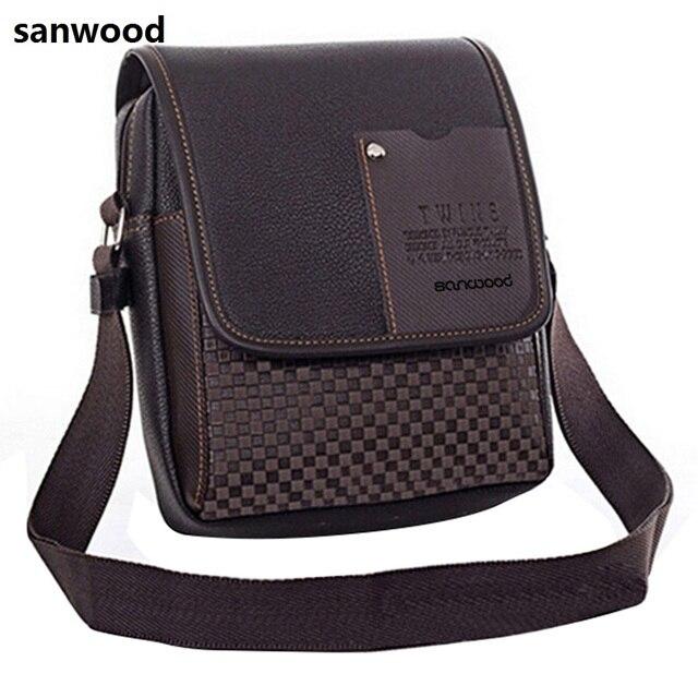 2015 Portable Men's Faux Leather Grid Cover Briefcase Crossbody Messenger Shoulder Bag  Hot 2015 6O1C