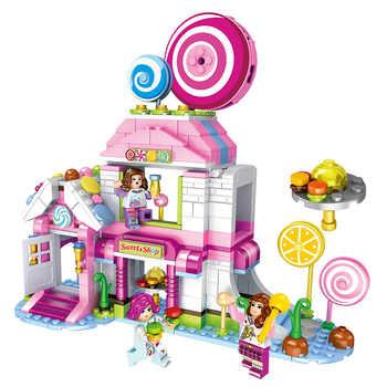 520pcs Children\'s building blocks toy Compatible Legoingly city friends girls Lollipop Cottage DIY figures Bricks birthday gifts - Category 🛒 Toys & Hobbies