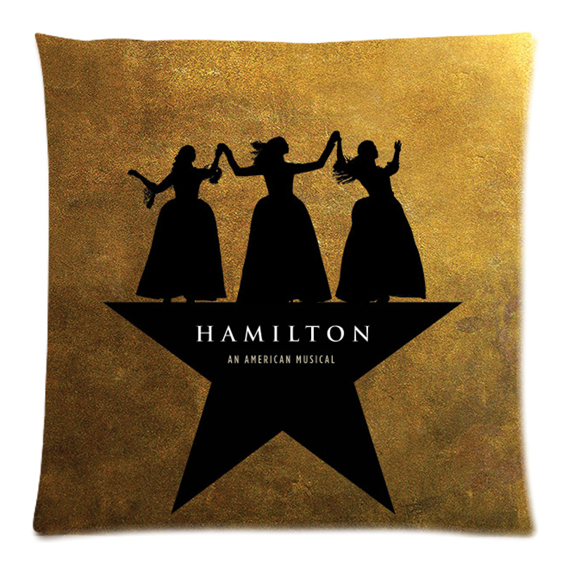 Customized Sofa Cushion Cover Hamilton Broadway Musical Throw Pillow Case Decorative Cotton Line Cushion Case Home