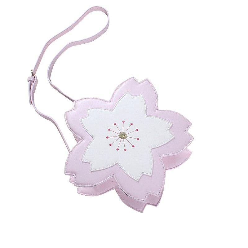 ФОТО Japanese Lolita Style Crossbody Bags Girls Cherry blossoms Printing Tote Flap Handbags Flower Designer Mini Women Messenger Bags