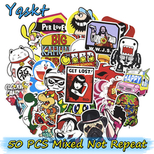 New 50 Pcs Mixed Cool Stickers for Laptop Luggage Skateboard Bicycle Motorcycle Car Styling Bicycle DIY Waterproof Sticker