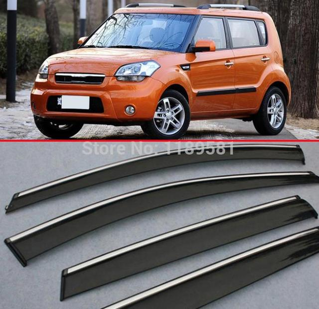For Kia Soul 2010 2011 2012 2013 Window Wind Deflector Visor Rain/Sun Guard Vent