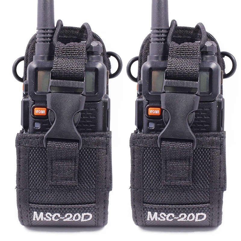 2 pièces Abbree MSC-20D Étui de Transport En Nylon Pour Talkie-walkie BaoFeng UV-5R UV-5RA UV-5RB UV-5RC/5RE UV-B6 BF-888S TYT Mototrola Radio