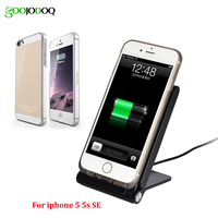 3 Coils Qi Wireless Charger Kit Pad Stand For Iphone 5 5S SE 6 6S 6