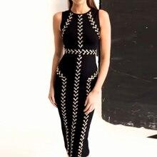 95a885a0a48 Magnifique robe à lacets sans manches à lacets col rond oeillet noir Sexy  sablier Mini Streetwear robe pour les femmes