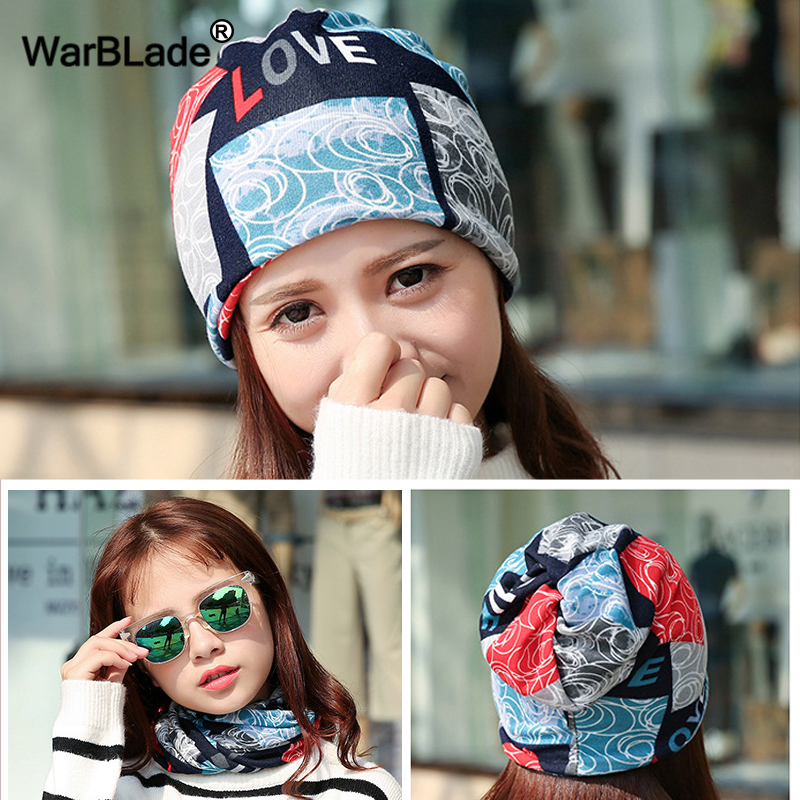 WBL Fashion Women   Beanie   Hat Casual Female Winter 3 Use Scarf Caps Star hats ladies spring and autumn Hip-hot   Skullies     Beanies