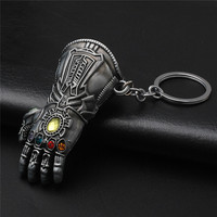 Marvel Avengers Infinity War Thanos Glove Gauntlet Keychain Gold Color 8