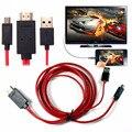 Micro usb mhl a hdmi cable adaptador de full hd 1080 p para samsung s3 s4 s5 nota 3 micro usb a hdmi mhl adaptador de cable de cable