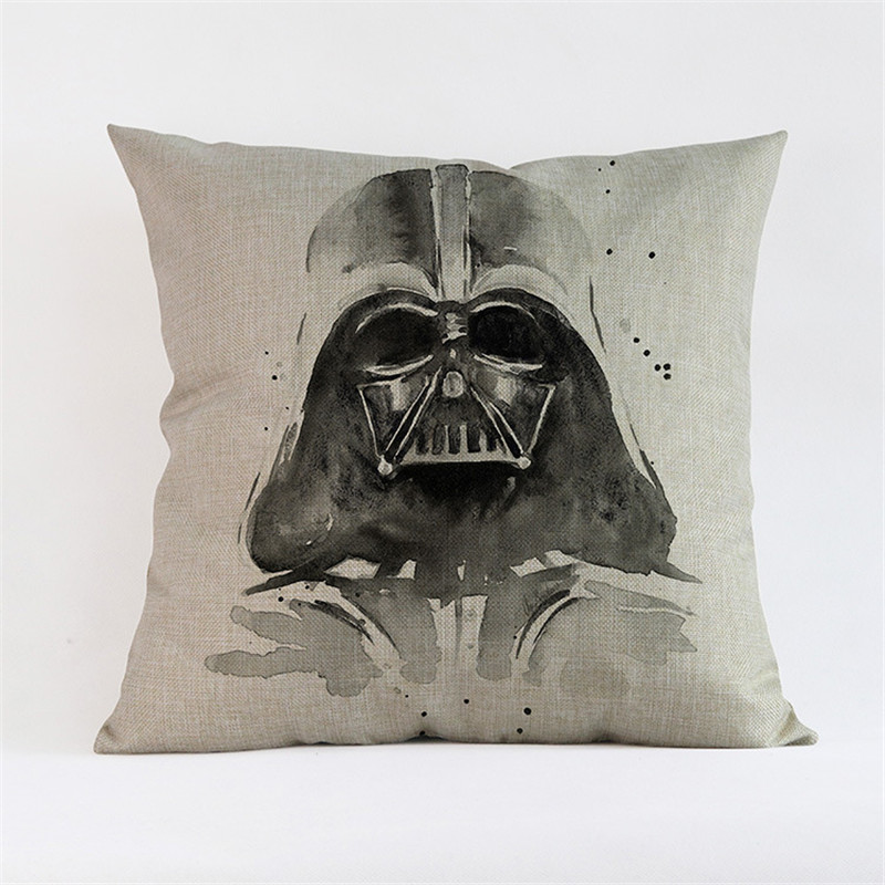 cartoon printing cushion cover Skywalker yoda Pillow case coffee shop club hotel home decoration for children gift ...