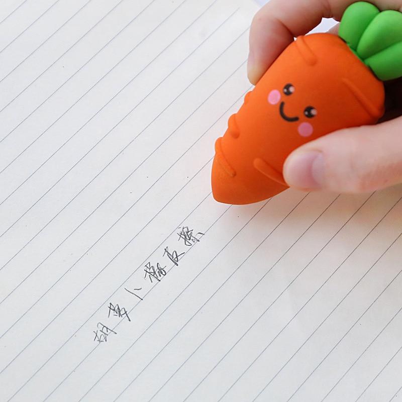 2020 Kawaii Rabbit Radish Eraser Correction Fluid Rubber Background Eraser Tool Background School Stationery
