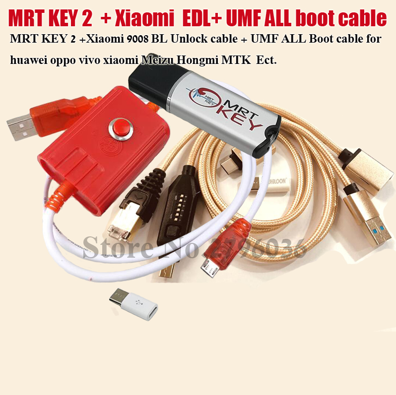 2020 Original MRT KEY 2 Dongle + for GPG  xiao mi Mei zu EDL cable +UMF ALL Boot cable set EASY SWITCHING & Micro USB To Type C|dongle unlock| |  - title=