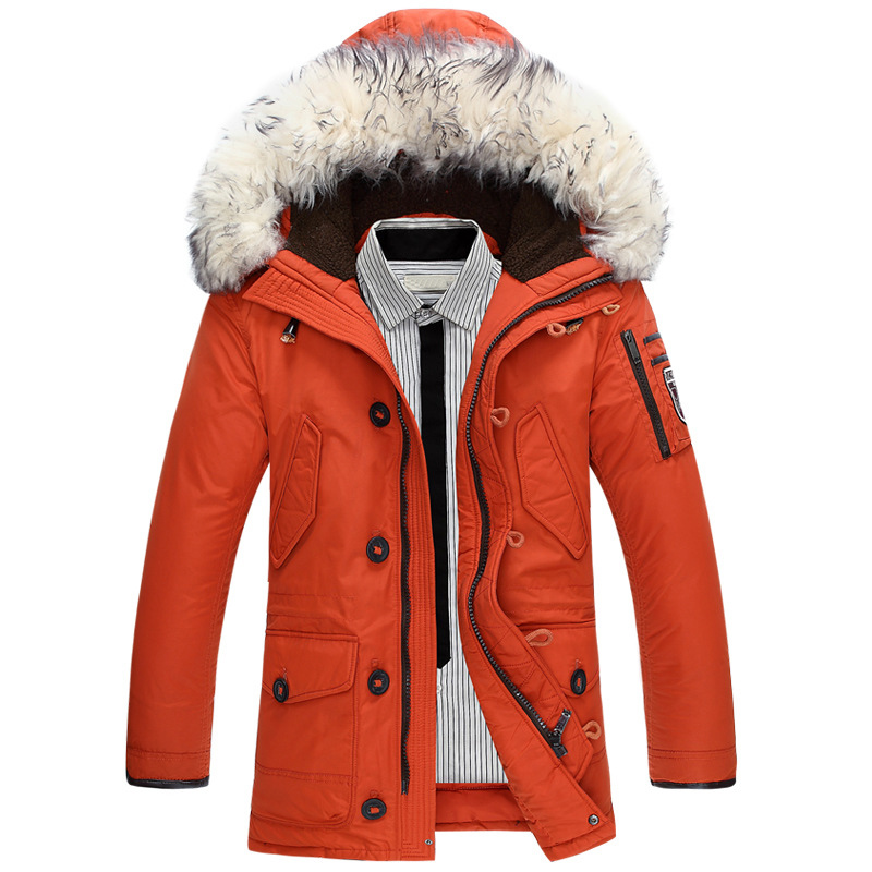 Neue marke winter jacke männer 90% weiße ente unten jacke dicke warm halten männer unten jacke pelz kragen mit kapuze unten jacken mantel männlichen - 4