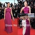 Sexy 2017 Aishwarya Rai Sleeveless Pleated Chiffon A Line Celebrity Dress Custom Made Prom Dresses
