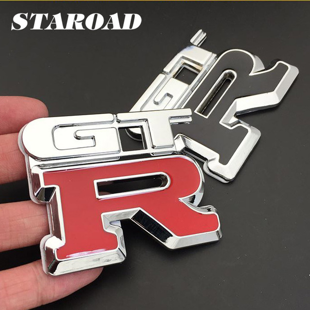 STAROAD D Metal GTR Logo Car Styling Emblem Badge Sticker For - Car sign with namesonline get cheap d led sign aliexpresscom alibaba group