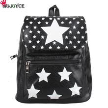2017 nuevas estrellas de la moda mochila bolsa estudiante bolsas de cuero de la pu marrón negro impermeable del ordenador portátil ipad bolsas populares de la estrella misma mochila
