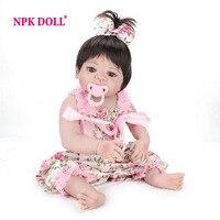 NPKDOLL 22 Inch Doll Reborn Full Vinyl Babies Doll For Girls 55 CM Realistic Soft Alive