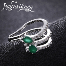 Фотография Women Earrings Unique Two Green Marquise Crystal Stone Earcuff Retro punk Earings Fashion Jewelry 2017 Boucles D