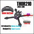 Loki THOR210 X5 iX5 verdadeiro X 210mm 210 5mm inferior 2.5mm topo Parafuso De Alumínio Kit Quadro de Fibra De carbono Para Corrida RC Drone Quadcopter +