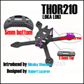 THOR210 Loki X5 iX5 verdadero X 210mm 210 5mm inferior 2.5mm superior Juego de Estructura de Fibra de carbono de Aluminio Tornillo Para Las Carreras de RC Drone Quadcopter +