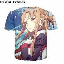 ef82798442abb PLstar Cosmos 2018 summer new Fashion T-shirts Classic anime Sword Art  Online t-