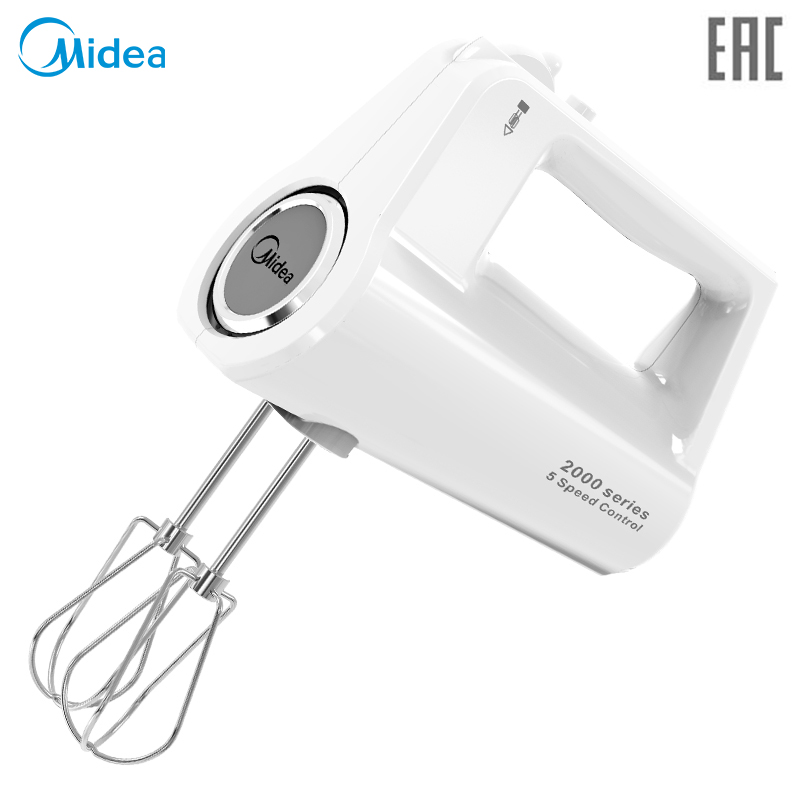 Hand mixer Midea MM-2801 for desserts and cakes, 5 speeds and turbo mode, whisk whipping and wire whip kemaidi new automatic sensor hand free waterfall bathroom basin sink faucet chrome hot and cold mixer tap bathroom sense faucets