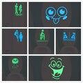 Зелено-синяя светящаяся наклейка на унитаз, дневная наклейка, домашний декор, украшение для детской комнаты, флуоресцентная Наклейка на сте...