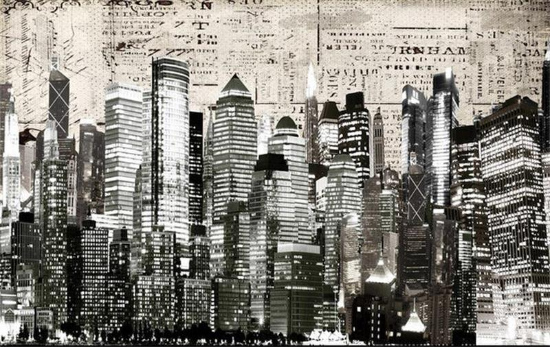 3d wallpaper custom mural non-woven 3d room wallpaper Retro Black and white photos of the city at night 3d wall murals wallpaper  free shipping hepburn classic black and white photos wallpaper old photos tv background wall mural wallpaper