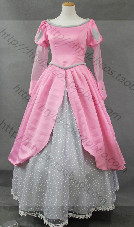 the litter mermaid Ariel princess costume ariel Mermaid fairy tale cosplay pink dress