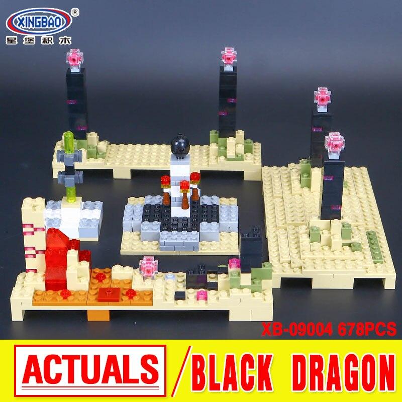 Xingbao 09004 678Pcs Blocks Life Series The Black Dragon Set Children Building Blocks Bricks Boy Educational Toys Model Gifts