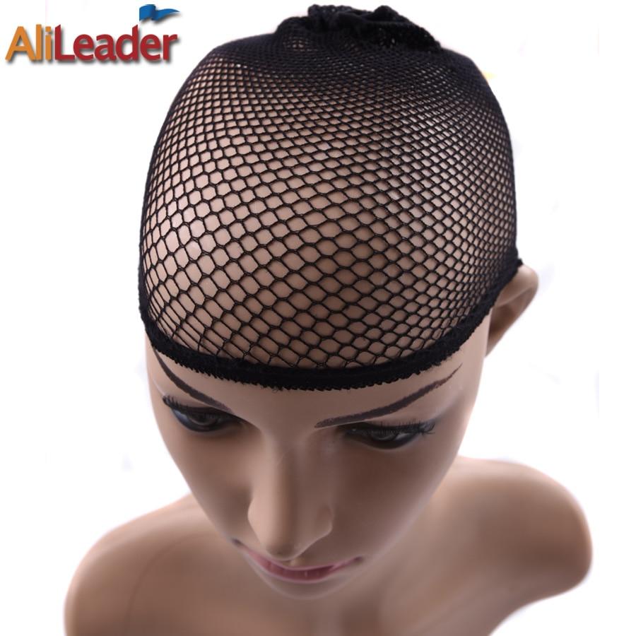 2Pcs/Lot Head Caps For Women For Wigs Hair Net Cap Great Elastic Weaving Cap Black Hairnets Cool Mesh Weaving Cap & Hairnets