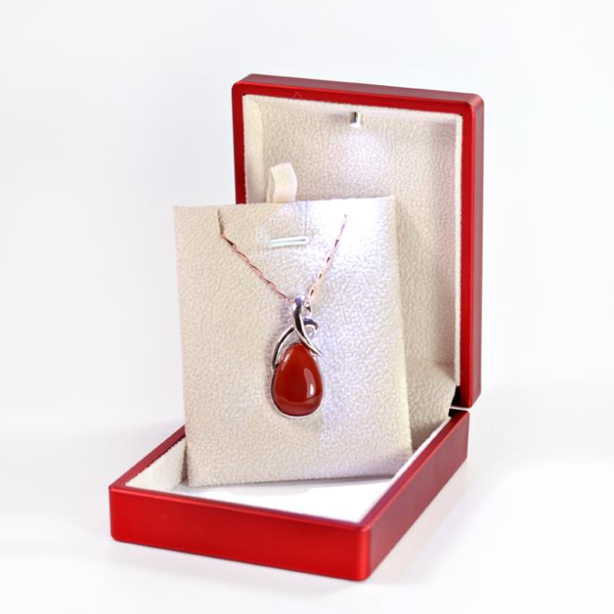 High End Red Painted Led Pendant Box Gift Spotlight Jewelry