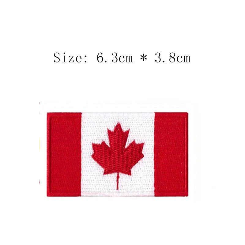 ملصقات علم كندا المطرزة أسعار الجملة شارات الكي للقبعات الصدر الأيمن الخلفي للملابس أوراق القيقب معنى الثلج