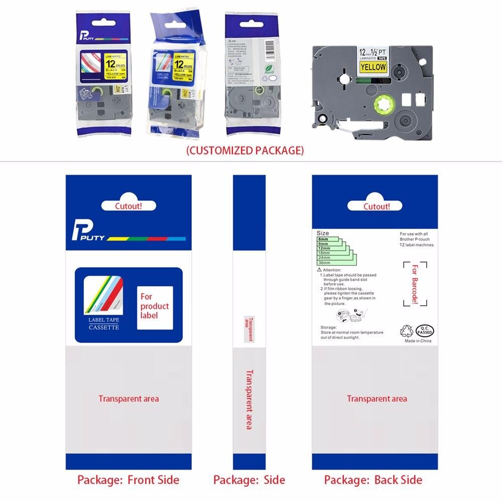 calor compatível para o irmão PT-H300 PT-E550 impressoras da etiqueta puty