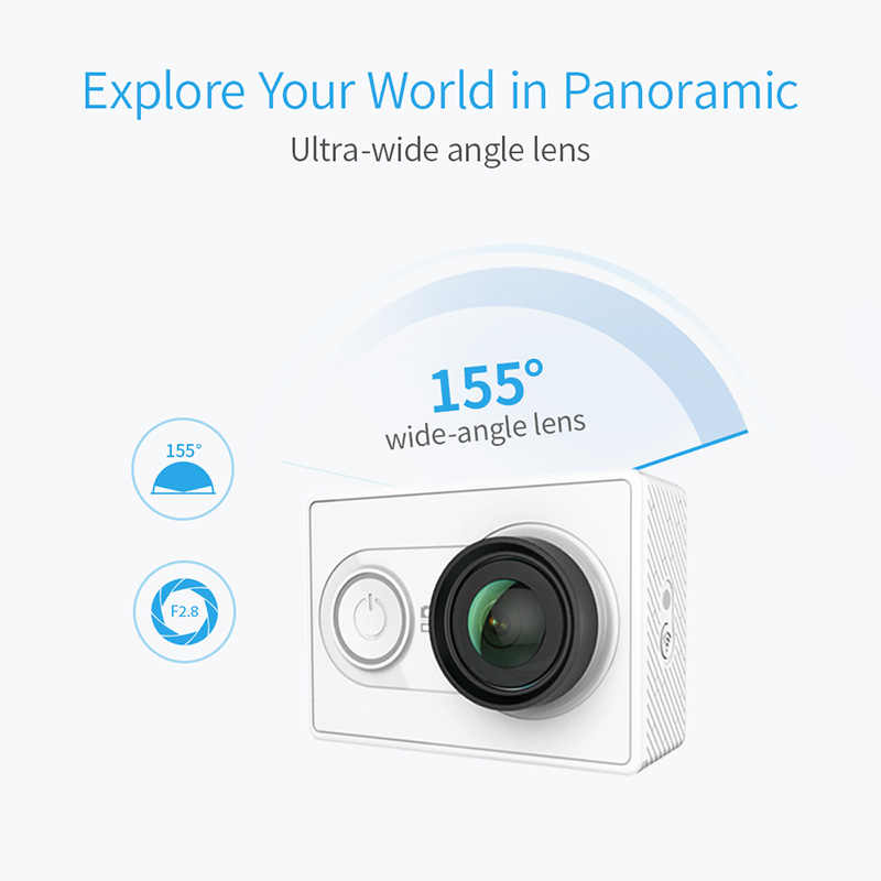 1080P Xiaomi YI Action Camera Sports Mini Camera 3D Noise Reduction WiFi  BT4 0 16MP 60FPS Ambarella A7LS [International Edition]