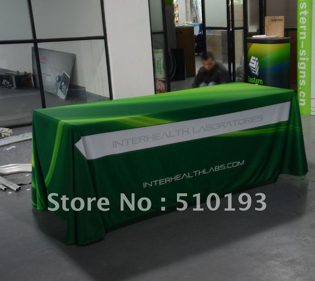 6ft Custom trade show table cloth (4-Sided)