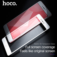 HOCO For Xiaomi Redmi 4X Tempered Glass Protective Film Full Cover Front Screen 9H HD Tempered Glass Ultra Thin 0.33mm Protector(China)