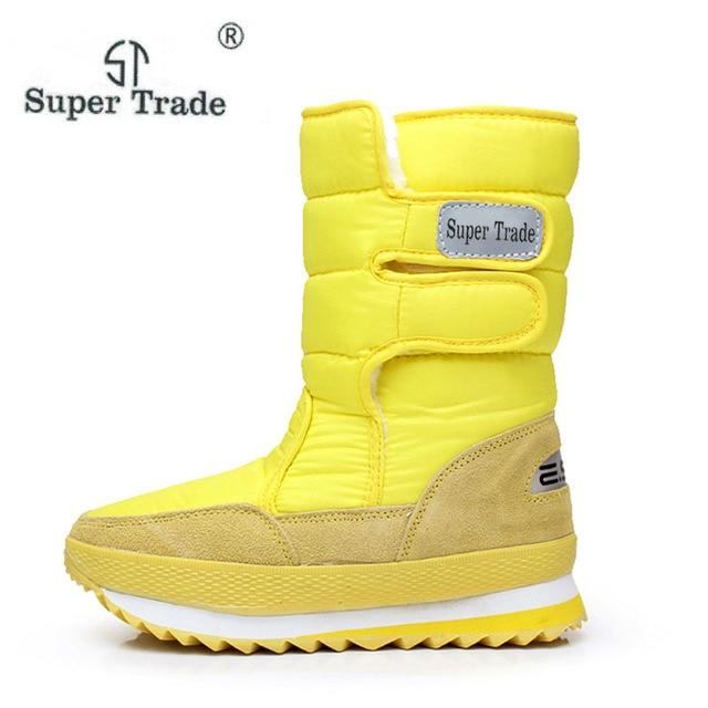 2018 новая зимняя утепленная женская Обувь Снегоступы теплая обувь женские Сапоги и ботинки для девочек скольжению Водонепроницаемый Сапоги и ботинки для девочек Теплые Каблучки Обувь
