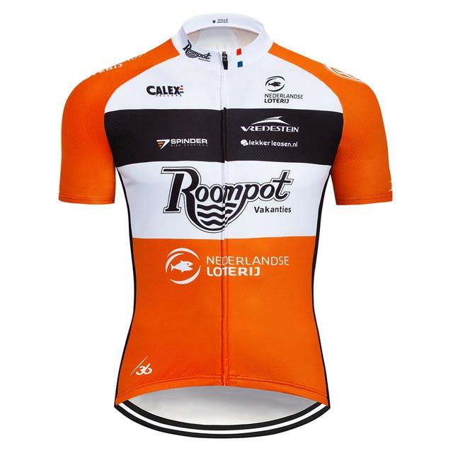 7167fd2d0 Mens Short Sleeve Cycling Jerseys Bike Racing Team Tops Uniforms Cycle  Jersey Bicycle Shirt Long Zip Race Fits Orange Maillots