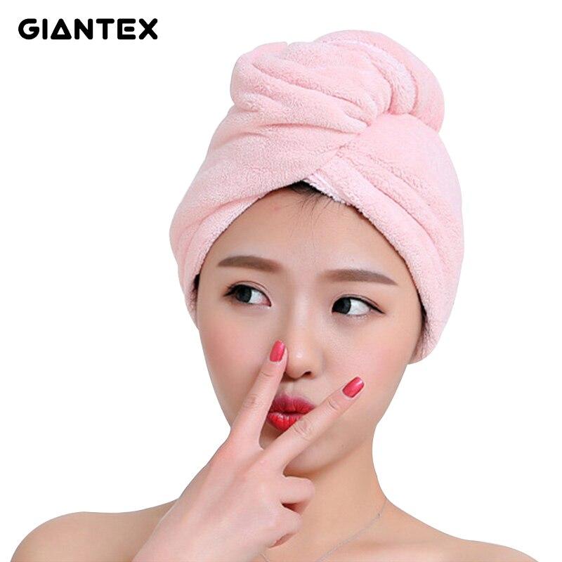 GIANTEX Wave Shape Women Bathroom Super Absorbent Quick-drying Microfiber Bath Towel Hair Dry Cap Salon Towel 28x65cm U1477