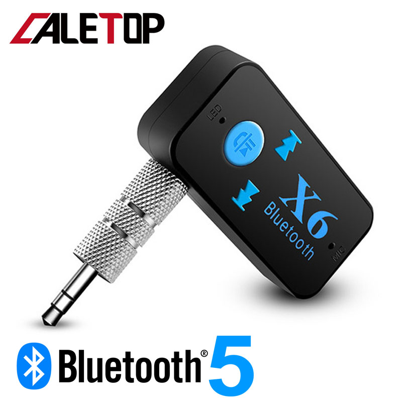 CALETOP Bluetooth 5.0 Audio Receiver Mini 3.5mm HIFI AUX Stereo Bluetooth For TV PC Wireless Adapter For Car Speaker Headphones
