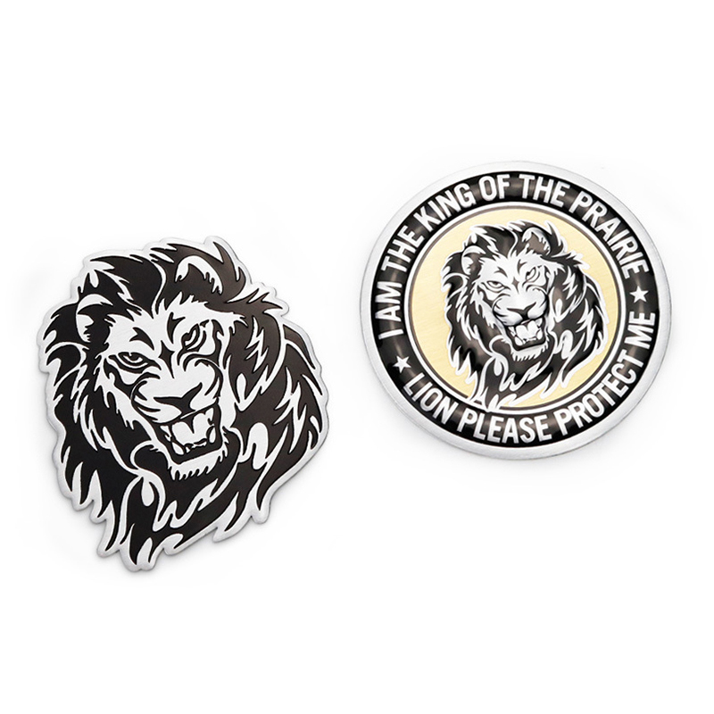 Metal 3D Lion Emblem Badge Decal Sticker Motorcycle Car Accessories For Opel Astra J BMW E60 Peugeot 307 Audi A4 B8 Ford Fiesta
