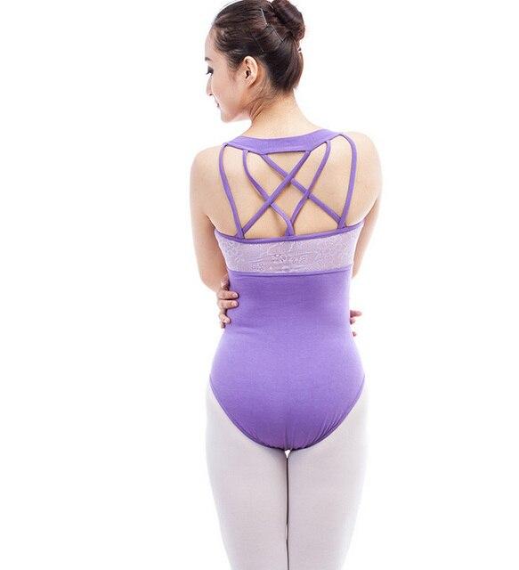 0afa89304 Ginástica Collant de Balé Profissional roxo para As Mulheres Trajes De  Competição de Dança Roupas Bodysuit