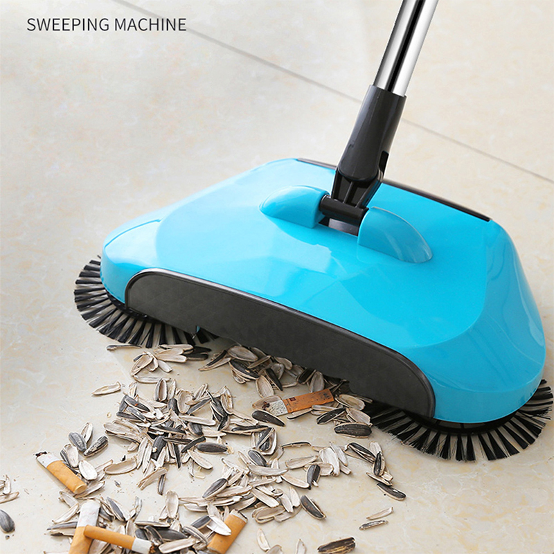 Stainless Steel Hand Push Sweeping Machine Push Type Magic Broom Dustpan Handle Household Cleaning  Sweeper Mop Dropshipping(China)
