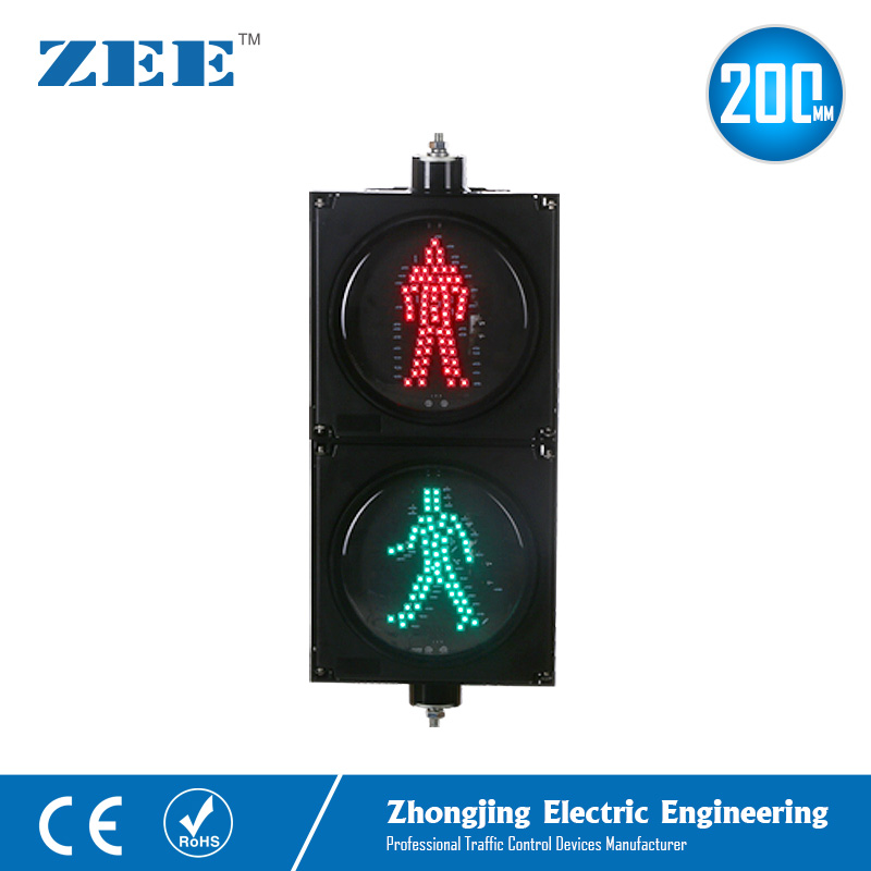 8 Inches 200mm LED Traffic Light LED Pedestrian Traffic Signal Light Red Man Green Man People Crossing Light