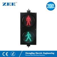8 inches 200mm LED Traffic Light LED Pedestrian Traffic Signal Light Red Man Green Man People Crossing Light