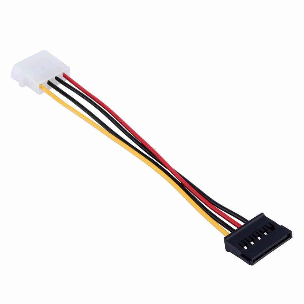 4 Pin IDE Molex męski na 15 Pin Serial ATA SATA Adapter dysku twardego kabel zasilający