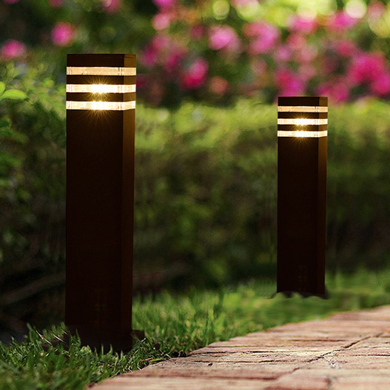 2 pieces outdoor waterproof modern square garden park LED light 110V 120V 220V 230V 240V 12V
